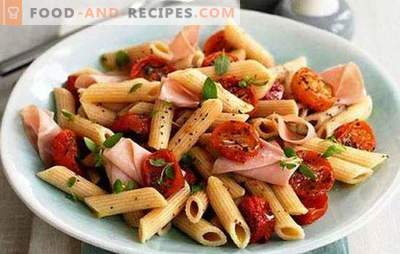 Кук, СРЈ, печете тестенини со шунка. Разновидни јадења од наједноставните производи: тестенини со шунка и сирење