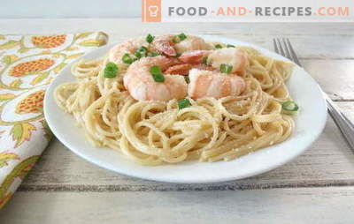 Шпагети со ракчиња - јадење што Италијанците би го сакале! Најдобри рецепти за шпагети со ракчиња и сосови за нив
