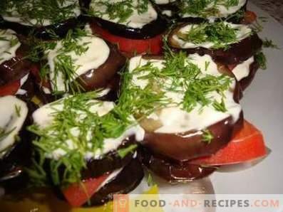 Мајка-в-закон на модри патлиџани со домати