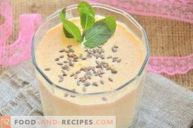 Cottage cheese smoothies with carrots and honey