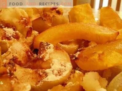 Тиква со јаболка печена во рерната
