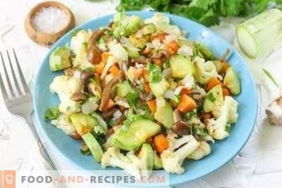 Салати со пржени печурки