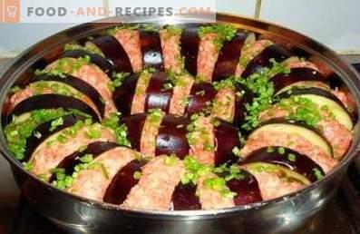 Модар патлиџан со мелено месо печен во рерната