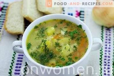 Супа со обработено сирење