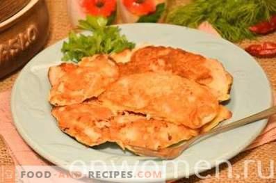 Пилешки гради, пржени во кефир тесто