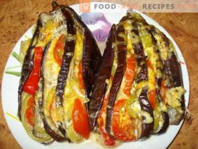 Eggplant baked in the oven