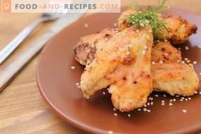 Пилешки крилца во маринада со лимон-сенф