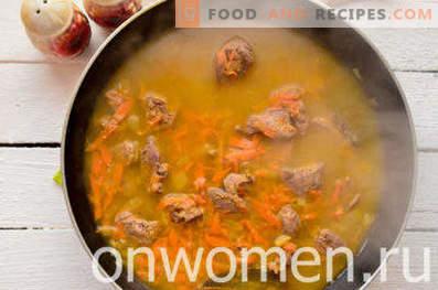 Sopa de crema de hígado de pollo