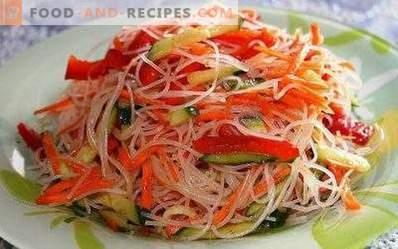 Салати со фунхози и зеленчук