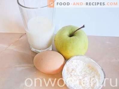 Епл палачинки со млеко
