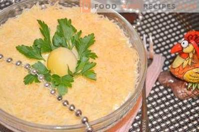 Слоена салата со сардина а ла мимоза
