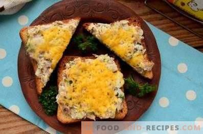 Сендвичи со путер во рерна