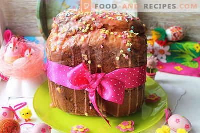 Реален квасец торта со суво грозје во производител на леб според рецептот на нашите баби