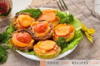 Сквош печен со домати и сирење