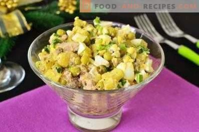 Saladas de fígado de bacalhau