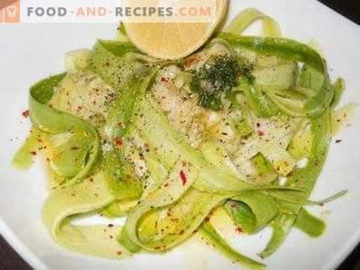 Салати от сурови тиквички