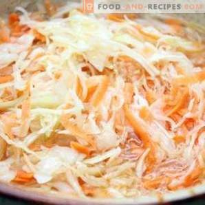 Cabbage marinated for winter
