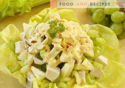 Салата од пилешко и целер - најдобри рецепти. Како правилно и вкусно да се подготви салата со пилешко и целер.