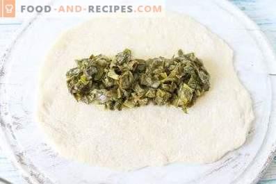 Filling of sorrel for patties