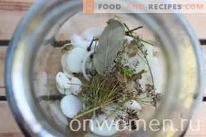 Избрани за зимата на краставици и домати и пиперки и тиквички