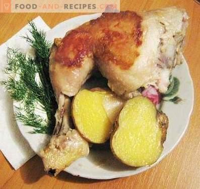 Пилешки нозе печени во бавен шпорет