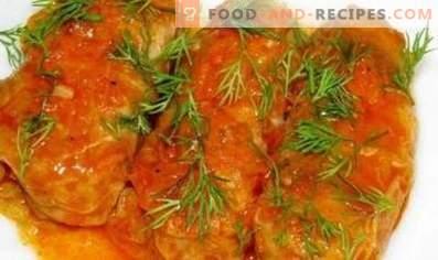 Зелка ролни во рерна во сос од доматно-кисела павлака