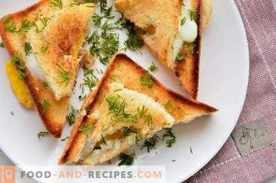 Сендвичи со јајце во тава