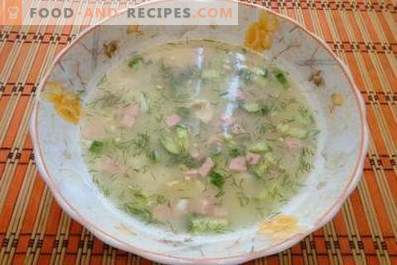 Окрошка во пилешко супа