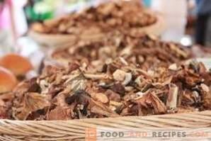 Како да се чуваат суви печурки