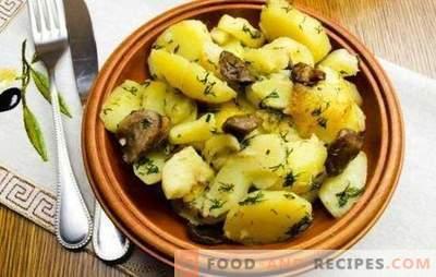 Компирите со печурки во бавен шпорет се подобри отколку во тава. Компири со печурки во бавен шпорет: пржени, задушени, печени