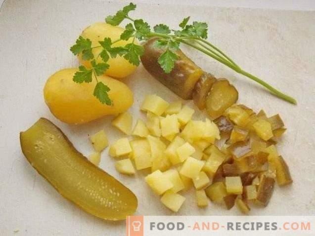 Рустикална салата со кисела печурка
