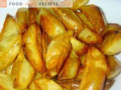 Како да се готви компири во микробранова печка со сирење, месо, сланина, картофи, варени