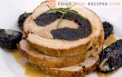 Ролс со сливи ќе го направи празник поживописен, а менито - корисно! Најдобрите рецепти на ролни со сливи: пилешко и месо